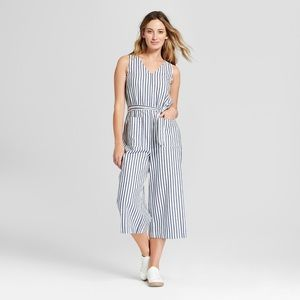 [Universal Thread] Striped Jumpsuit with Belt